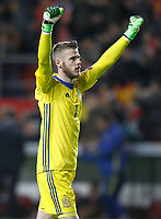 Spain's David De Gea celebrates goal during FIFA World Cup 2018 Qualifying Round match. March 24,2017.(ALTERPHOTOS/Acero) /NortePhoto.com