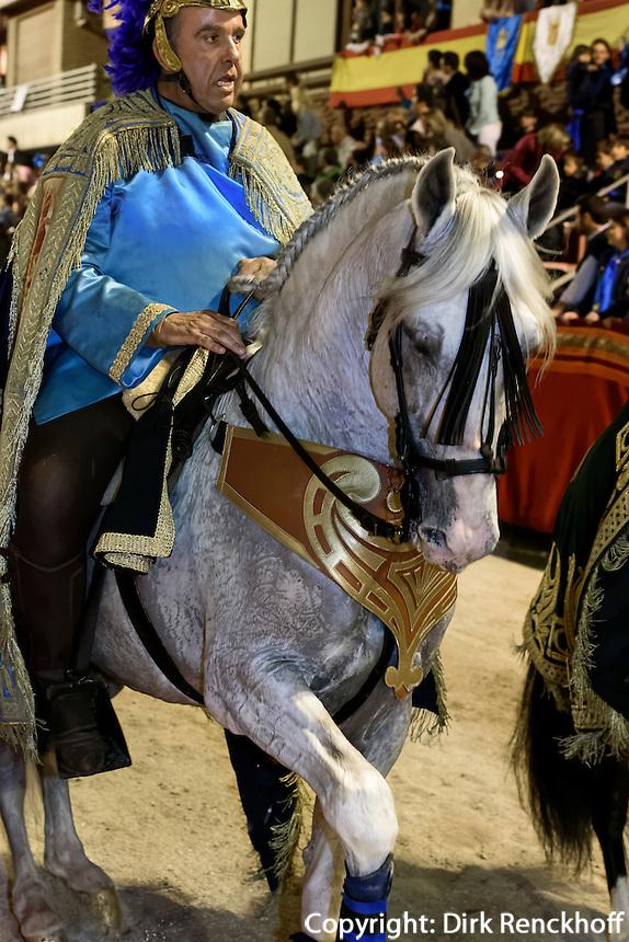 Reiter bei  der Karfreitagsprozession der Semana Santa  (Karwoche) in Lorca,  Provinz Murcia, Spanien, Europa