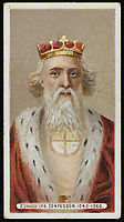 EDWARD THE CONFESSOR  King of England (1042-66) / Unattributed design on a cigarette card / 1004 - 1066