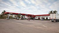 Cuba, Cienfuegos.  Gas Station on Highway between Havana and Cienfuegos.