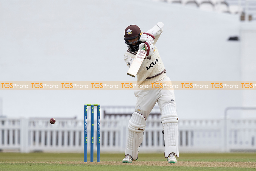 Hashim Amla of Surrey CCC punches through the covers during Surrey CCC vs Hampshire CCC, LV Insurance County Championship Group 2 Cricket at the Kia Oval on 30th April 2021