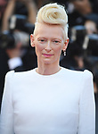 NON EXCLUSIVE PICTURE: MATRIXPICTURES.CO.UK<br /> PLEASE CREDIT ALL USES<br /> <br /> WORLD RIGHTS<br /> <br /> Tilda Swinton attending the 'Okja' screening, during the 70th Cannes Film Festival, France.<br /> <br /> MAY 20th 2017<br /> <br /> REF: RHD 171023