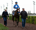 CYPRESS, CA: December 07: #3 Thousand Words and Bob Baffert after their victory in the Grade II Los Alamitos Futurity at Los Alamitos Race Course on December 07, 2019 in Cypress, California (Photo by Chris Crestik/Eclipse Sportswire)