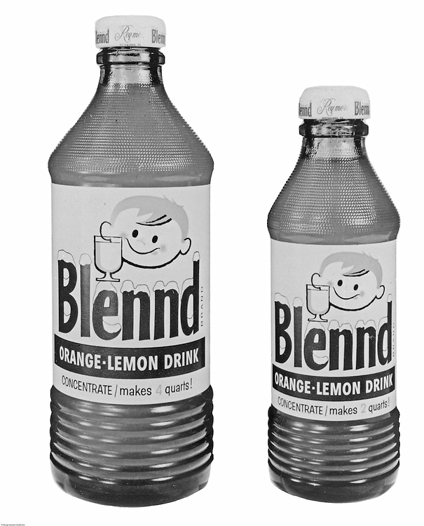 Client: H.J. Heinz Company<br /> Ad Agency: Ketchum, MacLeod & Grove<br /> Product: Lemon Blennd<br /> Location: Brady Stewart Studio, 725 Liberty Avenue Pittsburgh<br /> Product photography of the infamous Lemmon Blennd drink.  Originally developed by E. W. Keagy in 1947, the rights were sold to Reymer Brothers. In 1960, Reymer Brothers sold the company to HJ Heinz.
