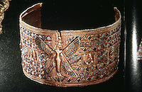 Kush:  A golden armlet from a queen's tomb.  SPLENDORS OF THE PAST:  LOST CITIES OF THE ANCIENT WORLD.  (National Geographic)