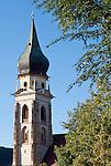 "Italy, Alto Adige - Trentino (South Tyrol), Community Appiano sulla Strada del Vino, district San Paolo: parish curch St. Paul's Conversion   Italien, Suedtirol, bei Bozen, Gemeinde Eppan Ortsteil St. Pauls: Pfarrkirche Pauli Bekehrung, der ""Dom auf dem Lande"""