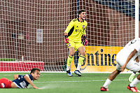 FOXBOROUGH, MA - SEPTEMBER 1: Yannik Oettl #70 of New England Revolution II yells encouragement during a game between FC Tucson and New England Revolution II at Gillette Stadium on September 1, 2021 in Foxborough, Massachusetts.