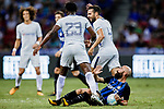 Chelsea Midfielder Cesc Fabregas (C) reacts with FC Internazionale Midfielder Borja Valero (R) during the International Champions Cup 2017 match between FC Internazionale and Chelsea FC on July 29, 2017 in Singapore. Photo by Marcio Rodrigo Machado / Power Sport Images