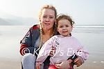 Enjoying a stroll on Rossbeigh beach on Tuesday, l to r: Bobbie-Jen and Theia Bainbridge.