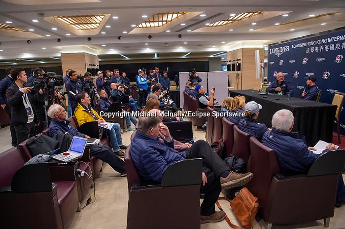 SHA TIN, HONG KONG – December 5:Press conference at Sha Tin Race Course in Hong Kong. Michael McInally/Eclipse Sportswire/CSM