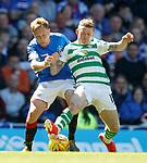 12.05.2019 Rangers v Celtic: Scott Arfield and Jonny Hayes