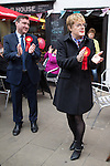 © Joel Goodman - 07973 332324 . 17/04/2015 . Chester , UK . EDDIE IZZARD joins Labour candidate Chris Matheson (l) , campaigning in the City of Chester constituency . Photo credit : Joel Goodman