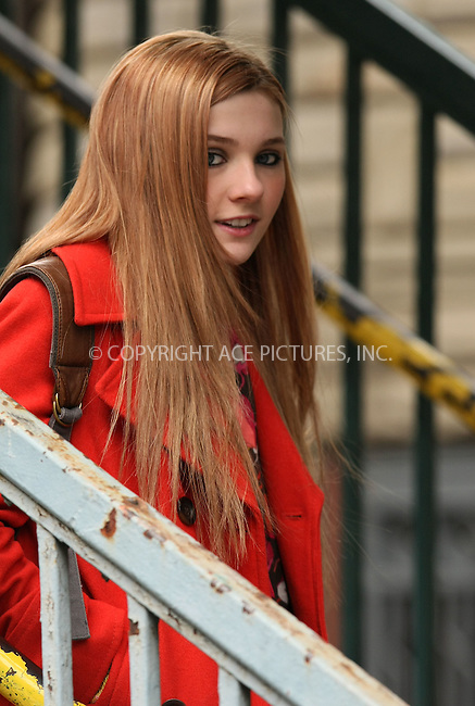 WWW.ACEPIXS.COM . . . . .  ....April 6 2011, New York City....Actress Abigail Breslin on the Queens set of the new movie 'New Years Eve' on April 6 2011 in New York City....Please byline: PHILIP VAUGHAN - ACE PICTURES.... *** ***..Ace Pictures, Inc:  ..Philip Vaughan (212) 243-8787 or (646) 679 0430..e-mail: info@acepixs.com..web: http://www.acepixs.com