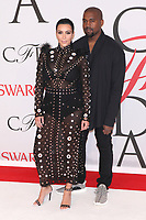 NEW YORK, NY - JUNE 1: Kim Kardashian and Kanye West at the 2015 CFDA Fashion Awards at Alice Tully Hall, Lincoln Center in New York City on June 1, 2015. Credit: Diego Corredor/MediaPunch