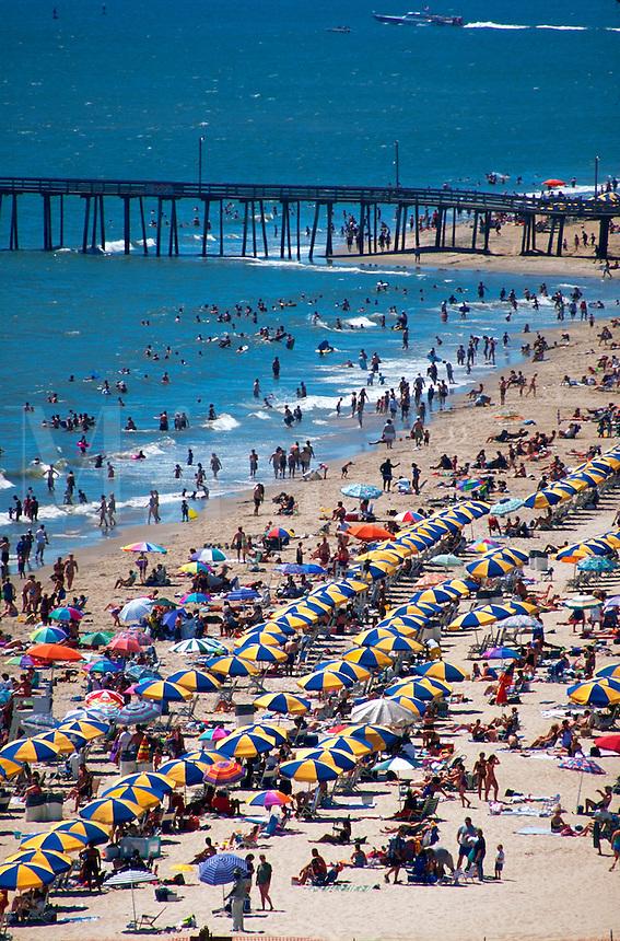 Crowds at the beach, Virginia Beach, Virginia