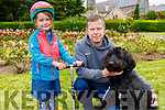 Kate and Ciaran O'Brien from Tralee and Coco the dog enjoying the Tralee Town Park on Sunday.