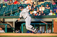 D.J. Peterson (33) of the Jackson Generals bats during a game between the Jackson Generals and Chattanooga Lookouts at AT&T Field on May 7, 2015 in Chattanooga, Tennessee. (Brace Hemmelgarn/Four Seam Images)