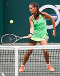 April  5, 2017:   Daria Kasatkina (RUS) battles against Monica Puig (PUR),  at the Volvo Car Open being played at Family Circle Tennis Center in Charleston, South Carolina.  ©Leslie Billman/Tennisclix/Cal Sport Media