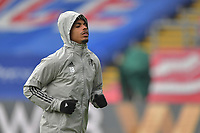 Mario Lemina of Fulham warms up before the Premier League behind closed doors match between Crystal Palace and Fulham at Selhurst Park, London, England on 28 February 2021. Photo by Vince Mignott / PRiME Media Images.