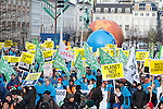 Global Day of Action in Copenhagen - Denmark. (Images free for Editorial Web usage for Fresh Air Participants during COP 15. Credit: Robert vanWaarden)