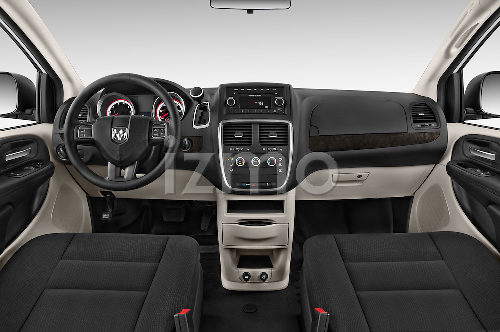 Stock photo of straight dashboard view of a 2015 Ram base tradesman 5 Door Cargo Van