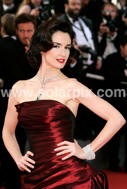 **ALL ROUND PICTURES FROM SOLARPIX.COM**.**SYNDICATION RIGHTS FOR UK AND SPAIN ONLY**.Paz Vega at the premiere of 'Indiana Jones and the Kingdom of the Crystal Skull' in Cannes..JOB REF:   6446    CPR        DATE: 16.04.08.**MUST CREDIT SOLARPIX.COM OR DOUBLE FEE WILL BE CHARGED* *UNDER NO CIRCUMSTANCES IS THIS IMAGE TO BE REPRODUCED FOR ANY ONLINE EDITION WITHOUT PRIOR PERMISSION*