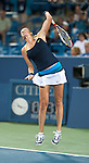 Petra Kvitova of the Czech Republic loses in the semifinals at the Western & Southern Open in Mason, OH on August 18, 2012.