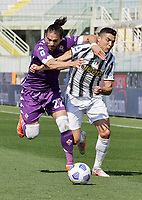 Martin Caceres of FiorentinaCristiano Ronaldo of Juventus  during the  italian serie a soccer match,Fiorentina - Juventus at  theStadio Franchi in  Florence Italy ,