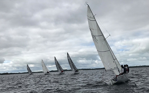 Upwind from Startline - Race 4, Day 2 SB20 North Shannon, Portlick Cup