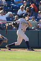 July 18, 2010: Eugene Emeralds' Oscar Garcia (#8) at-bat during a Northwest League game against the Everett AquaSox at Everett Memorial Stadium in Everett, Washington.