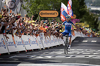 Julian Alaphilippe (FRA/Deceuninck - Quick-Step) wins Stage 3 from Binche (BEL) to Épernay (FRA) (214km) & becomes the new GC-leader (thus: yellow jersey!)<br /> <br /> 106th Tour de France 2019 (2.UWT)<br /> <br /> ©kramon