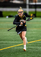 17 April 2021: UMBC Retriever Midfielder/Attacker Lauren Conduitt, a Freshman from Fox River Grove, IL, in action against the University of Vermont Catamounts at Virtue Field in Burlington, Vermont. The Catamounts fell to the Retrievers 11-8 in the America East Women's Lacrosse matchup. Mandatory Credit: Ed Wolfstein Photo *** RAW (NEF) Image File Available ***