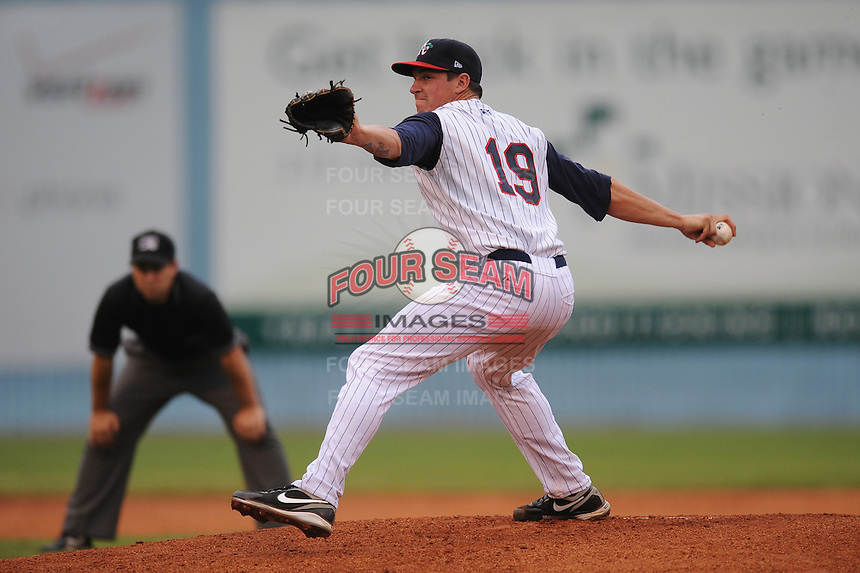 Chris Balcom-Miller #19 Pitcher Asheville Tourists (Rockies) May 14, 2010 Photo By Tony Farlow/Four Seam Images