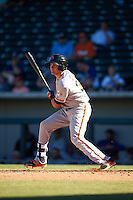 Scottsdale Scorpions Ryder Jones (32), of the San Francisco Giants organization, during a game against the Mesa Solar Sox on October 18, 2016 at Sloan Park in Mesa, Arizona.  Mesa defeated Scottsdale 6-3.  (Mike Janes/Four Seam Images)
