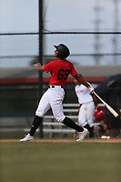 Leon Paulino (69) of Chaminade Madonna College Prep High School in Hollywood, Florida during the Under Armour Baseball Factory National Showcase, Florida, presented by Baseball Factory on June 12, 2018 the Joe DiMaggio Sports Complex in Clearwater, Florida.  (Nathan Ray/Four Seam Images)