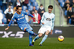 Getafe CF's Nemanja Maksimovic  and Celta de Vigo's Jozabed Sanchez  during La Liga match. February 09,2019. (ALTERPHOTOS/Alconada)