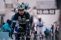 World Champion Peter Sagan (SVK/Bora-Hansgrohe) to the start<br /> <br /> 61th E3 Harelbeke (1.UWT)<br /> Harelbeke - Harelbeke (206km)