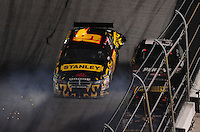 Feb 07, 2009; Daytona Beach, FL, USA; NASCAR Sprint Cup Series driver Elliott Sadler spins during the Bud Shootout at Daytona International Speedway. Mandatory Credit: Mark J. Rebilas-