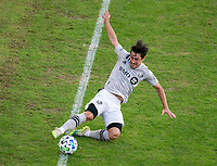 WASHINGTON, DC - NOVEMBER 8: Bojan #9 of the Montreal Impact tries to save the ball during a game between Montreal Impact and D.C. United at Audi Field on November 8, 2020 in Washington, DC.
