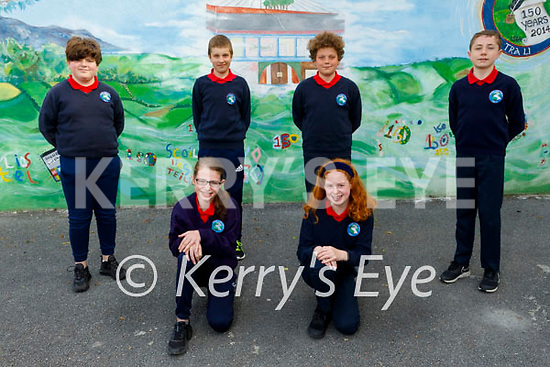 Listellick NS students who were the winners of the Concern Primary Debating Competition. Kneeling l to r: Aoife Kate Trant and Maeve O'Connell. Standing l to r: Cathal O'Sullivan, Karl Cronin, Peter Hajek and Brian Heaphy. Missing from photo Shónagh O'Sullivan (Captain) and David Lynch (2nd speaker).