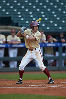 Johnny Adams (8) of the Boston College Eagles at bat against the North Carolina Tar Heels in Game Five of the 2017 ACC Baseball Championship at Louisville Slugger Field on May 25, 2017 in Louisville, Kentucky. The Tar Heels defeated the Eagles 10-0 in a game called after 7 innings by the Mercy Rule. (Brian Westerholt/Four Seam Images)