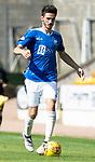 St Johnstone FC Season 2018-19…  McDiarmid Park    <br />Scott Tanser<br />Picture by Graeme Hart. <br />Copyright Perthshire Picture Agency<br />Tel: 01738 623350  Mobile: 07990 594431