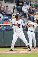 Everett AquaSox's Jean Acevedo #25 at bat during a game against the Spokane Indians at Everett Memorial Stadium on June 20, 2012 in Everett, WA.  Everett defeated Spokane 9-8 in 13 innings.  (Ronnie Allen/Four Seam Images)