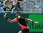 March 26 2018: Fernando Verdasco (ESP) defeats Thanasi Kokkinakis by 3-6, 6-4, 7-6 (4), at the Miami Open being played at Crandon Park Tennis Center in Miami, Key Biscayne, Florida. ©Karla Kinne/Tennisclix/CSM