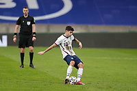 BELFAST, NORTHERN IRELAND - MARCH 28: Christian Pulisic #10 of the United States takes a penalty kick during a game between Northern Ireland and USMNT at Windsor Park on March 28, 2021 in Belfast, Northern Ireland.