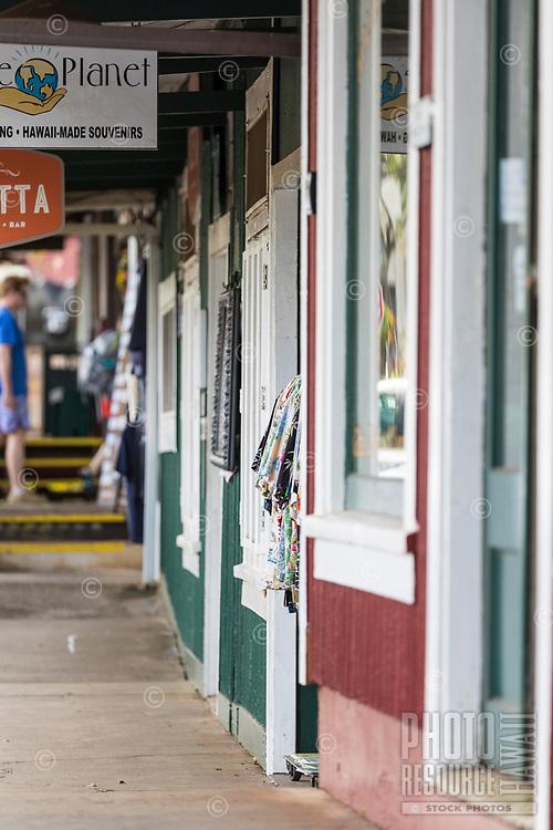Shopping area in Koloa, Kaua'i.