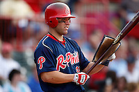 August 1, 2009:  Third Baseman Neil Sellers of the Reading Phillies during a game at Jerry Uht Park in Erie, PA.  Reading is the Eastern League Double-A affiliate of the Philadelphia Phillies.  Photo By Mike Janes/Four Seam Images