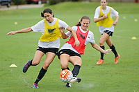 NWA Democrat-Gazette/DAVID GOTTSCHALK   University of Arkansas Razorback soccer team during practice Wednesday, August 19, 2015 on the campus in Fayetteville.
