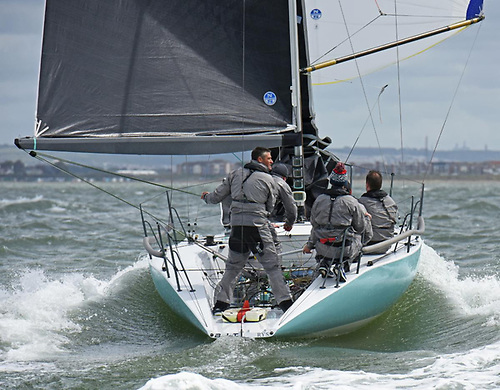 A lively day on the water for the Quarter Tonners, with Sam Laidlaw's BLT winning the class © Rick Tomlinson