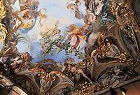 - Genoa, museum of Red Palace, frescoed ceiling....- Genova, museo di Palazzo Rosso, soffitto affrescato